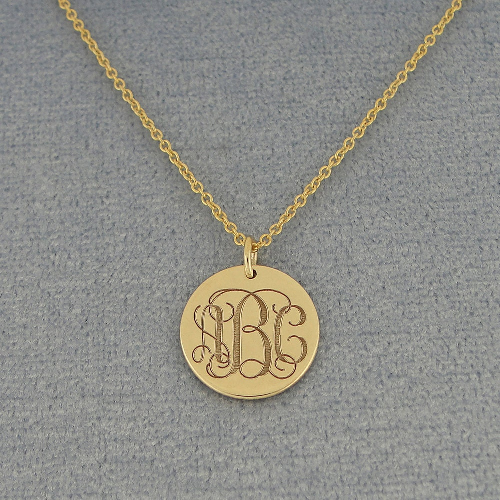 3 initial monogram tiny round disc charm pendant necklace deep laser gallery photo gallery photo gallery photo gallery photo gallery photo mozeypictures Image collections