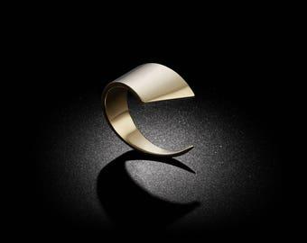 Slice Gold Ring