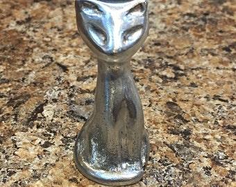 Aluminum Cat figurine