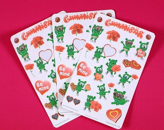 Gummibär (The Gummy Bear) Valentine's Day Sticker Sheets ~ Hearts And Love ~ Cute Kawaii Character ~ Planner Stickers ~