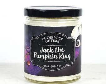 Jack the Pumpkin King   Scented Vegan Soy Candle  