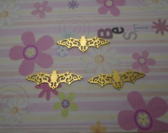 10pcs gold color bat findings 56x19mm