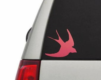 Swallow bird decal, swallow sticker, bird car decal, vinyl car decal, bird sticker, swallow bird sticker, flying bird sticker, bird decal