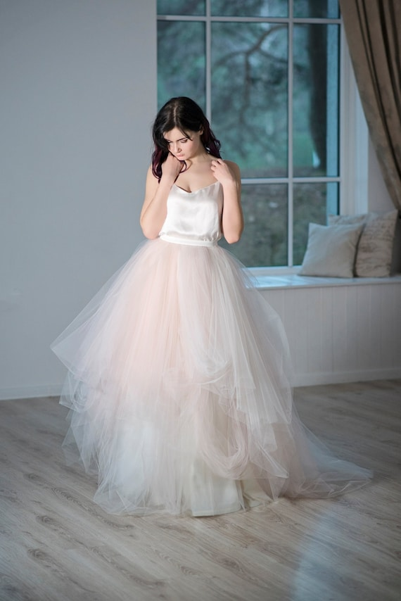 Magnolia - whimsical bridal tulle skirt