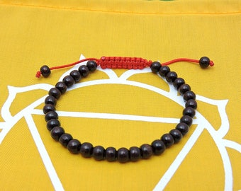Small Rosewood Wrist Mala/ Bracelet for Meditation (5.5mm beads)