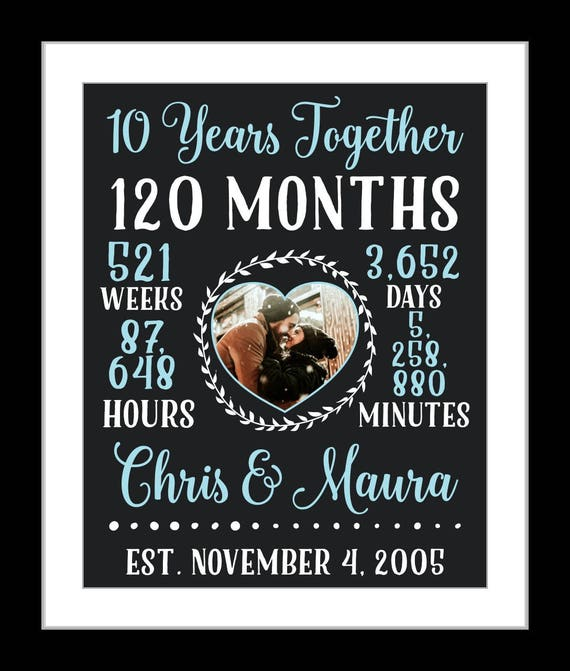 10th Anniversary Gift Ideas For Him: 10 Year Anniversary 10th Anniversary Gift For Him Chalt 10
