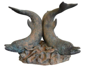 Bronze Dolphin Table Base