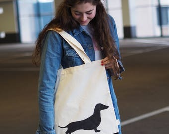 Canvas Shopper | Canvas Bag | Katoenentas Dachshund Puck