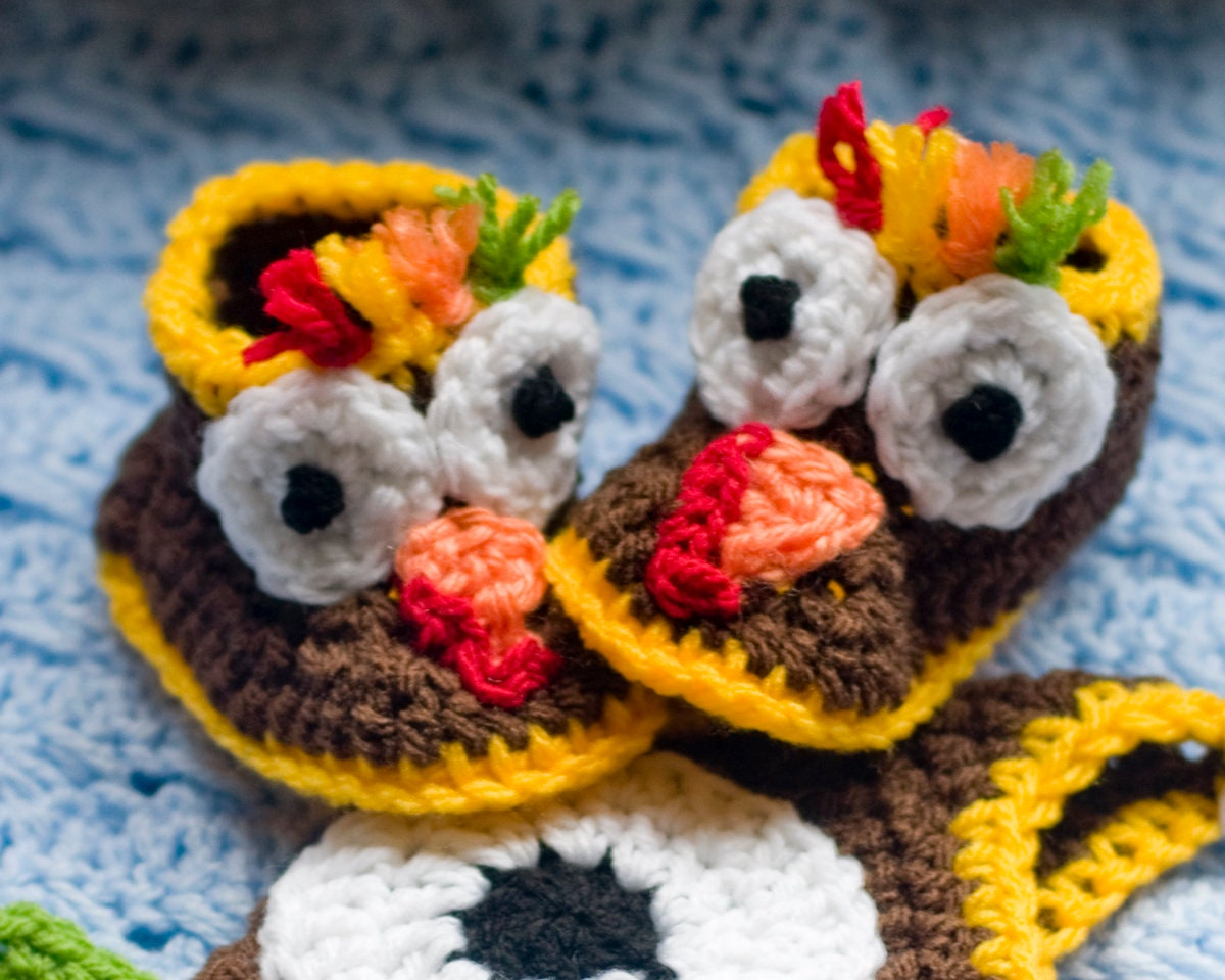 Baby TURKEY HAT & BOOTIES Pattern, Baby Boy Hat Patterns, Crochet ...