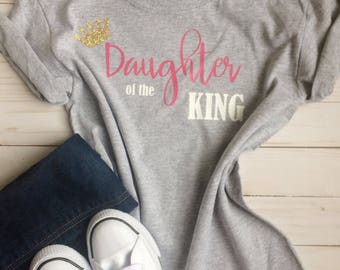 Daughter of the King youth christian t-shirt