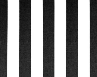 Black Stripe Fabric by the YARD white Canopy Premier Prints home decor curtains pillow drapes wedding table runners upholstery SHIPsFAST