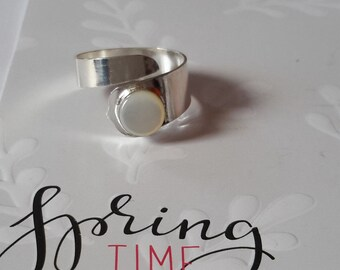 Expandable ring silver
