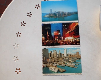 Lot Three vintage postcards from New York