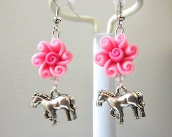 Western Jewelry Horse Earrings Cowgirl Bling