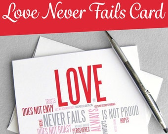 Wedding Card. Love Is Patient Love Is Kind. 1 Corinthians 13 Printable Card. Anniversary Card. Digital Instant Download. Love Card.