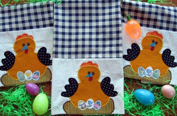 Chicken Kitchen Tea Towel,Embroidered Hand Towel,Chicken Kitchen Decoration, Easter Decor Towel,Applique Tea Towel Gift,Easter Kitchen Gift