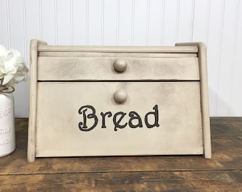Breadbox, Bread Box, Bread Bin, Vintage Bread Box, Primitive Bread Box, Rustic Bread Box, Farmhouse Chic, Farmhouse Decor, Farmhouse Kitchen