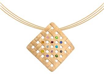 Brushed Sterling Silver Hoshen Necklace