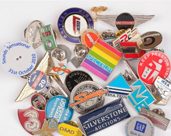 Custom Designed Enamel & Metal Pin Badges-Own Design-Own Logo-Min Qty 500pcs