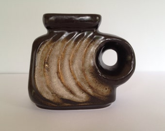 Walter Becht WB 155/12 Keramik / Ceramic rare 1960s  Mid Century Hole vase WGP West Germany