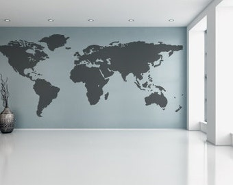 World map decal etsy publicscrutiny Images