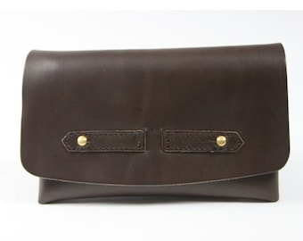 Tobacco Brown vegetable tanned leather
