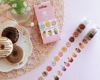 20mm Cupcake Tape ,Dessert Tape, Cake Tape,Donut Washi Masking Tape, Craft Supply,Sticker Tape,scrapbook supply