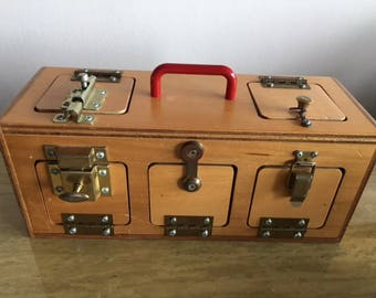 Childrens TAG memory lock box wooden