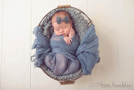 gris de lin bow baby fleur bandeau serre t te nouveau n. Black Bedroom Furniture Sets. Home Design Ideas