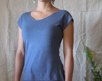 Cap Sleeve Top- Organic Hemp and Cotton
