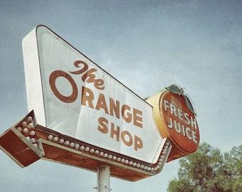 Kitchen Art Photography, Orange Shop, Orange Juice Kitchen Sign