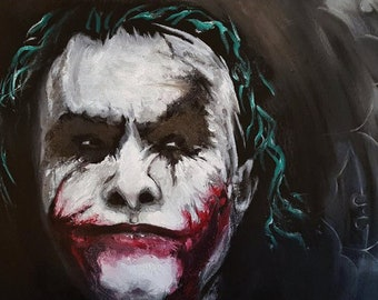 The Joker 16x20 reprint of original oil painting on canvas