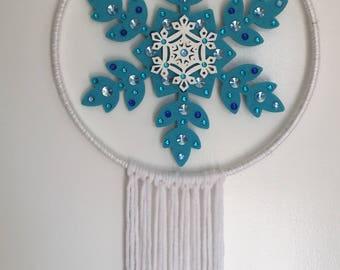 Frozen Snowflake Dream Catcher