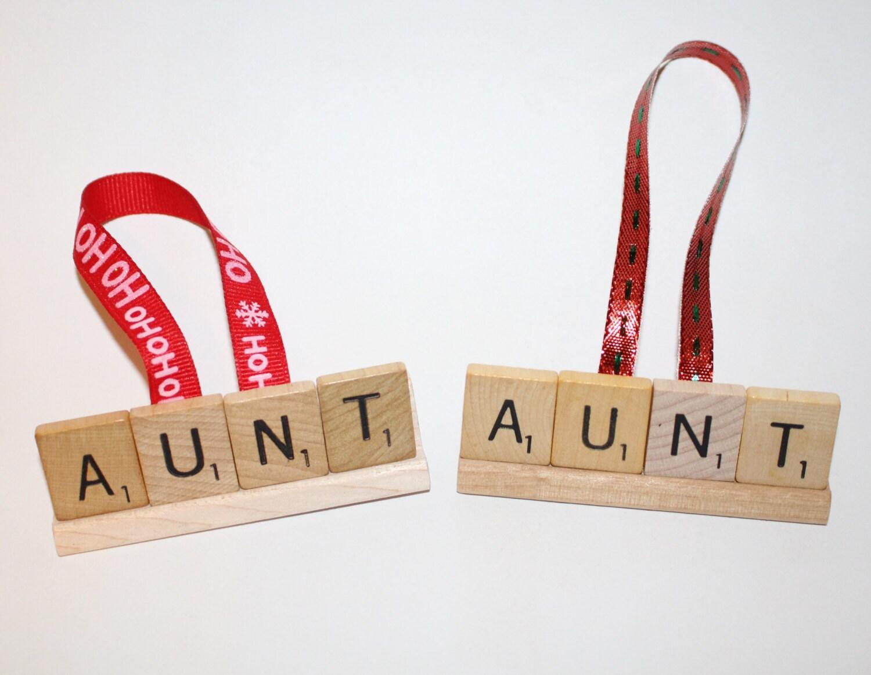 Christmas Ornament Aunt Aunt Ornament Aunt Gift Aunt