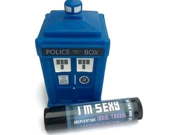 I'm Sexy - Jasmine & Plum Doctor Who Inspired Lip Balm Geek Stix - Idris/Sexy TARDIS - Shimmer