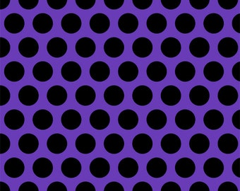 Purple with black big dots 1 yard