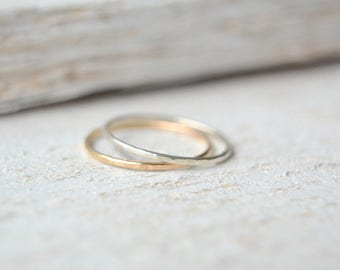 Stacking Rings- Gold Stacking Ring, Silver Stacking Ring, Minimalist Stacking Rings, Thin Stacking Ring, Stackable Ring