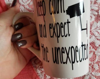 Keep Calm and Expect the Unexpected // coffee mug // big brother tv show // big brother quotes // coffee gifts // big brother lovers