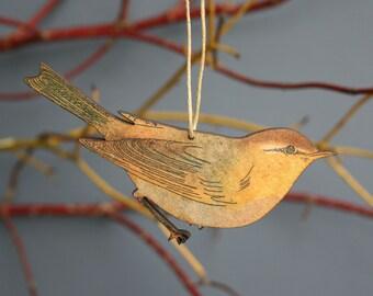 Chiff Chaff - Wooden Bird Hanging