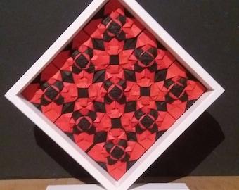 Quilt Origami, quilling, Paperart craft home interior statue