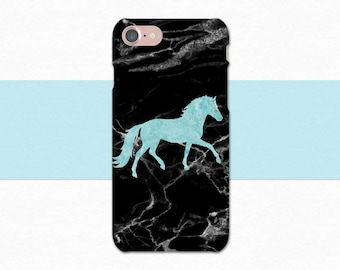 Equestrian iPhone Case, Marble Horse iPhone Case, Horse Case, Blue Marble, Black Marble iPhone Case, Horse Phone Case, iPhone 7 6 Plus 6S SE