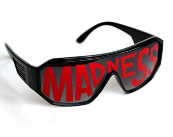 Rasslor Red MADNESS Shield Sunglasses