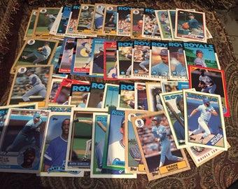 50 Kansas City Royals Baseball Cards 1980's