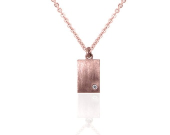 SMALL RECTANGULAR PENDANT