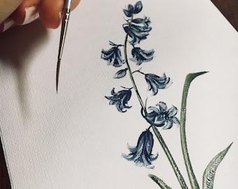 Original Bluebell Painting