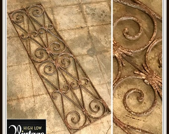 Vintage Decorative Distressed Iron Panel Architectural Salvage Home Decor Design Turn of the 20th Century Wall Hangings