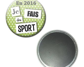 Magnet button 56 mm - the year in 2016 I make sports