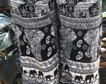 Elephant Pants/Thai Pants /Boho Harem Pants/ Hippie Pants/ Yoga Pants /Beach Pants / Bohemian pants/ Holiday Pants ,/ holiday gift