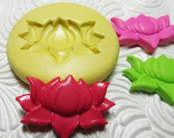 LOTUS FLOWER Flexible Silicone Rubber Push Mold for Resin Wax Fondant Clay Ice 6810