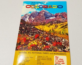 vintage Denver, Colorado tourist deluxe color picture tourist guide book from 1959 ** includes all national parks and monuments